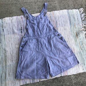 Vintage Overalls Womens Medium 100% Linen 90s